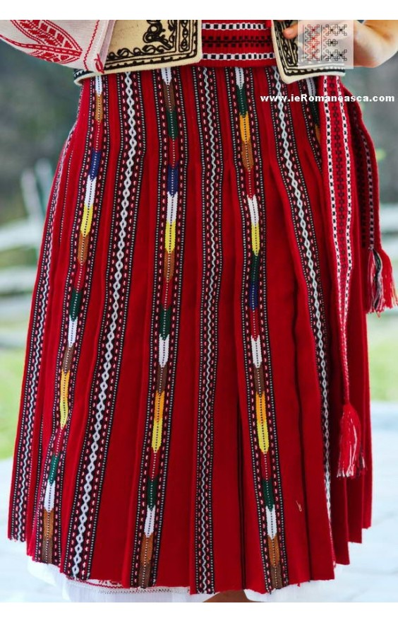 Traditional Romanian Skirt from Oltenia