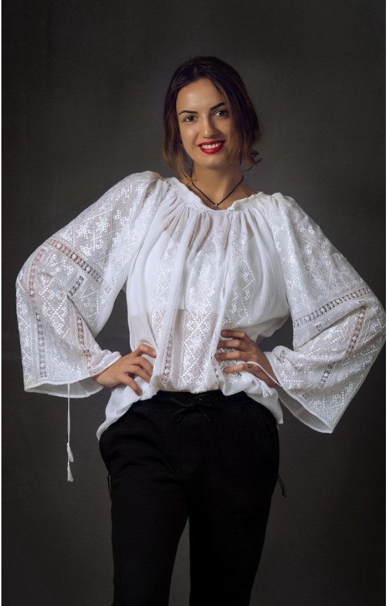 buy embroidered romanian blouse