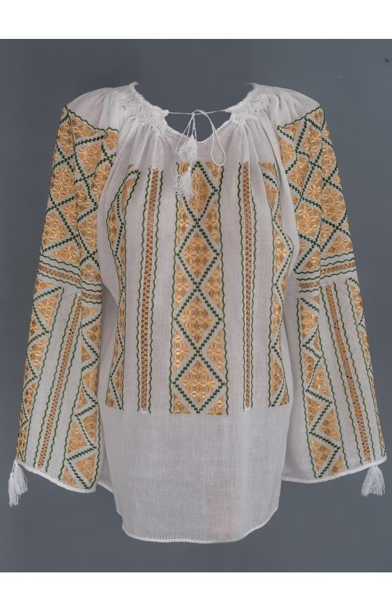 manually embroidered Romanian blouses
