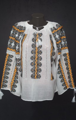 handmade Romanian peasant blouse