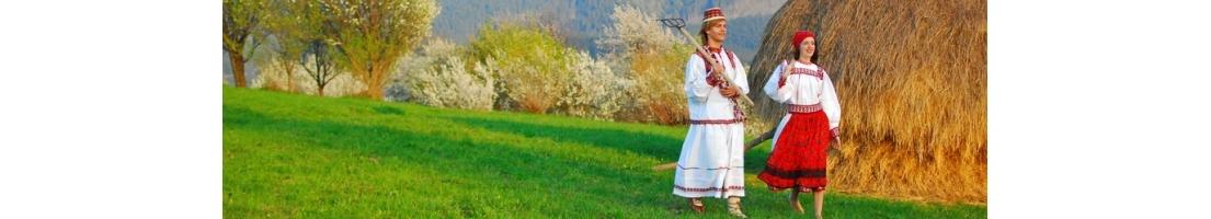 costumes tradicionales Roumaines - vetements folkloriques Roumaines