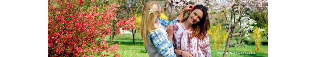 Rumänische Folkloreblusen zu verkaufen - bestickte Rumänischen Bluse