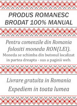 ie romaneasca cusuta manual